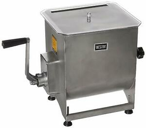 Weston Stainless Steel Meat Mixer Commercial Manual Compatible Electric 44 pound