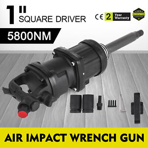 1 Square Drive Air Impact Wrench Gun 5800 N m Long Shank Truck 8inch Hammer