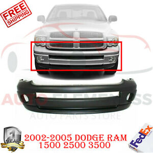 Front Bumper Cover W Fog Lamp Holes Primed For 2002 2005 Dodge Ram 1500