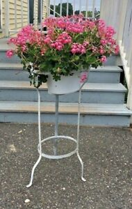 Antique Wrought Iron Wash Stand Washstand Basin For Pitcher Bowl Or Flowers