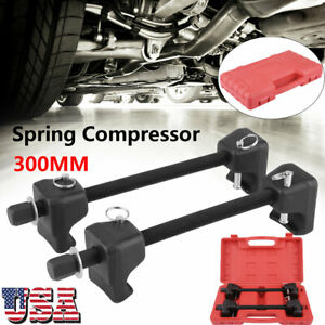 2pc 300mm Strut Coil Spring Compressor Removal Installer Tool Set For Macpherson