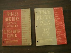 Original Ford 1948 1956 Truck Master Parts Books 50 1951 1952 1953 1954 1955 Nos