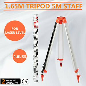 1 65m Aluminum Tripod 5m Staff Kit For Laser Level Outdoor Portable Transits