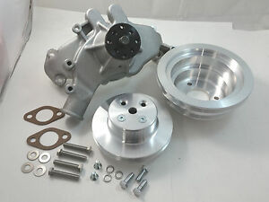 Bb Chevy Bbc Aluminum Long Water Pump Pulley Kit W Bolts Gaskets 396 454