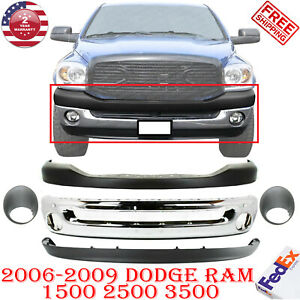 Front Chrome Bumper Up low Cover Bezel For 2006 2009 Dodge Ram 1500 3500