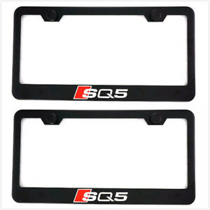 2x Black Sq5 Racing Stainless Steel License Plate Frame Cover Screw For Audi Sq5