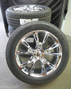 20 New Jeep Grand Cherokee Srt8 Style Chrome Set Of Wheels With Tires 9113