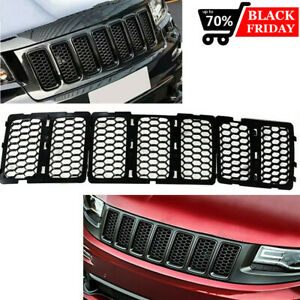 For Jeep Grand Cherokee 2014 2016 Black Inserts Honeycomb Mesh Grille Grill 7pcs