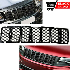 Fit Jeep Grand Cherokee 2014 2016 Black Inserts Honeycomb Mesh Grille Grill 7pcs