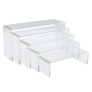 5pcs Clear Acrylic Perspex Sturdy Jewelry Cupcake Dessert Display Riser Stand