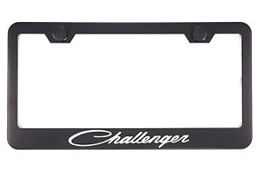 1x Black Challenger Racing Stainless Steel License Plate Frame Cover For Dodge