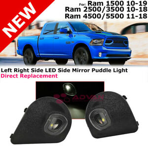 Left Right Led Mirror Puddle Lights Lamps For 10 19 Ram 1500 2500 3500 4500 5500