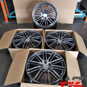 22 Wheels For Porsche Panamera 22x10 22x11 Staggered 5x130 rims Set Of 4