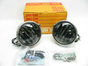 Vintage Grote 2402 Per Lux 200 Series Clear Louvered Driving Light 1 Pair