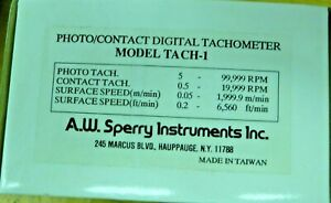 A w sperry Instruments Tach 1 Tachometer