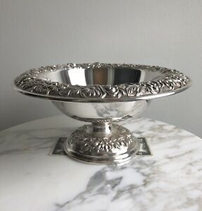 Estate Kirk Son Repousse Sterling Silver Footed 10 Bowl 32af No Mono 549 8g