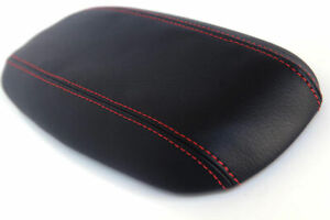 Fits 94 04 Ford Mustang Center Armrest Cover Console Leather Red Stitch
