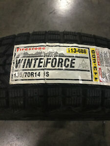 1 New 195 70 14 Firestone Winterforce Snow Tire