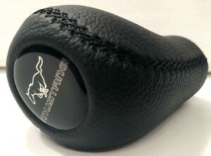 Ford Mustang Logo Natural Leather Shift Knob 5 Speed Manual 1979 2004