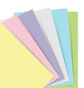 Filofax Notebook Pocket Pastel Dotted Paper Refill 122018