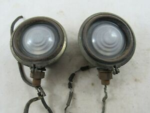 Vintage Pair Of 1920 s Car Cowl Lights Buick Chevy Ford Dodge