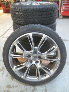 22 New Jeep Grand Cherokee Srt8 Style Gunmetal Wheels Tires Set Of Four 9113