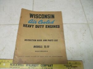 Vtg Wisconsin Air Cooled Heavy Duty Engines Instruction Repair Manual Te tf Mm 2