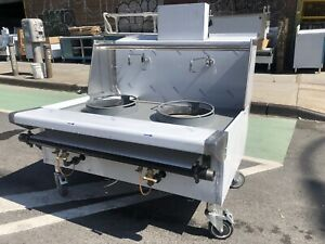 48 4ft Stainless Steel Chinese Range Wok Two 16 Hole Jet Burners nsf Approved