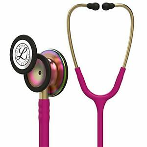 3m Littmann Classic Iii Monitoring Stethoscope Rainbow finish Raspberry Tube