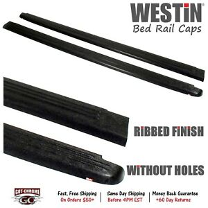 72 00451 Westin Black Bed Rail Caps Dodge Ram 6 4 Bed 2002 2008