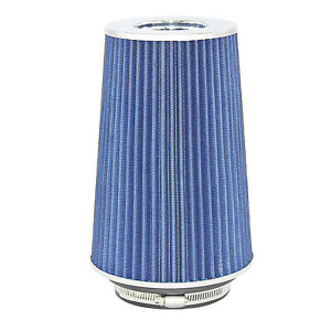 Blue Universal Cone Intake Air Filter 10 6 L X 6 W Inlet 3 3 5 Or 4 Large