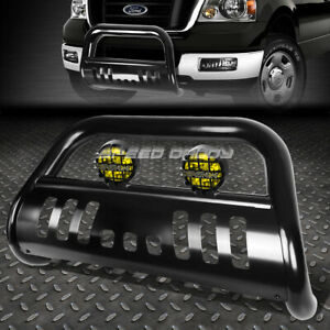 Black Bull Bar Guard Yellow Fog Light For 04 Ford F150 Non Ecoboost Expedition
