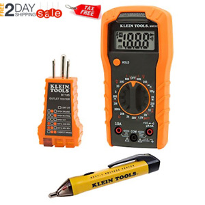 Klein Tools digital Multi Meter Multimeter Ohm Volt Amp Tester Tool Set New