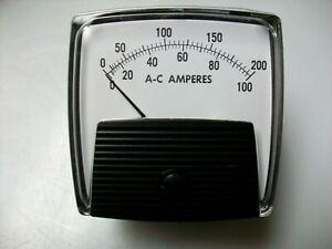New Dual Scale Ac Amps Panel Meter 0 200 And 0 100 Ac Amperes