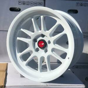 Aodhan Ah07 White Wheels 18x8 5 35 5x100 Fit Vw Jetta Gti Rims 18 Inch Rims Set