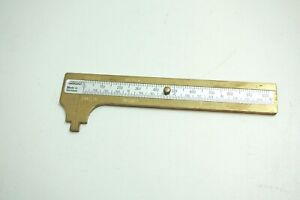 Vintage Hempe 4 Brass Caliper Slide Rule Made In Germany Excellent Condition
