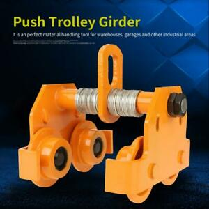 Heavy Duty 1 Ton 2204 Lbs Push Trolley Beam Girder Adjustable Precision Tool Usa