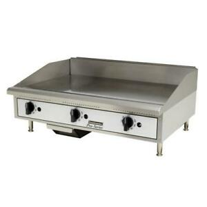 Toastmaster Tmgt36 36 Thermostatic Countertop Gas Griddle Flat Top Grill