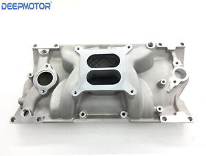 Sbc Small Block Chevy Aluminum Intake Manifold Vortec Dual Plane 350 383