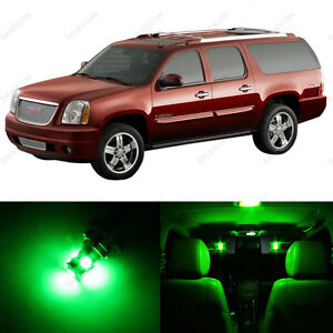 13 X Green Led Interior Light Package For 2000 2006 Gmc Yukon Pry Tool