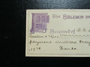 1895 Picture Of The Baldwin Dry Air Refrigerator S Graphic S Signed Document