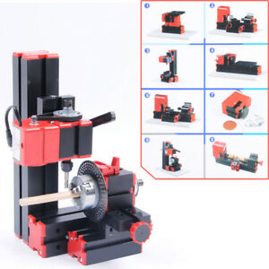 Vi Cnc Mini Classic Lathe Tool 8 In 1 Milling Machine Sawing Driller Grinder