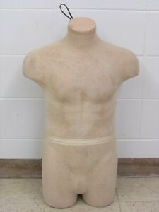 Male Medium large Torso Clothing Display Mannequin Skin Color
