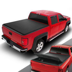 For 2007 2013 Silverado Sierra 1500 2500 8 Ft Bed Soft Tri Fold Tonneau Cover