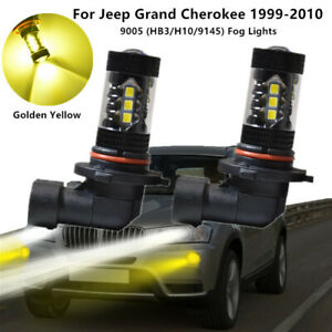 2x 9005 Led Bulbs Golden Yellow Drl Led Fog Lights For Jeep Grand Cherokee 99 10