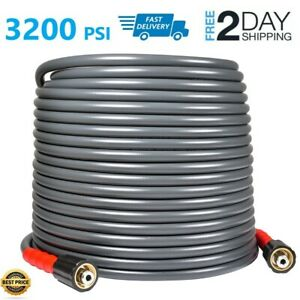 Yamatic 3200 Psi High Pressure Washer Hose 1 4 50 Ft M22 14mm Flexible
