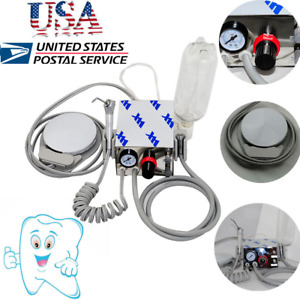 Usa Stock Portable Mini Dental Turbine Unit Handpiece Compressor 4h water Bottle