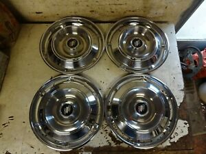 1961 Buick Electra 225 Lesabre Invicta Estate Wagon 15 Wheel Cover Hub Caps