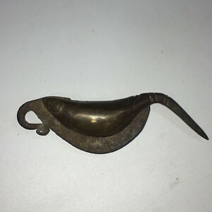 Antique Chinese Copper Handle Fish Shape Knife