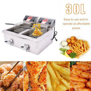 30l Electric Countertop Deep Fryer Commercial Restaurant Meat W Timer Drain E